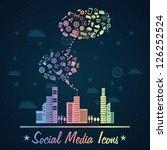 colorful social media concept... | Shutterstock .eps vector #126252524