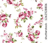 Seamless Vector Pink Flowers...