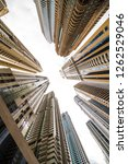 skyscrapers looking up at the... | Shutterstock . vector #1262529046