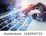 data management platform concept   Shutterstock . vector #1262542723