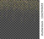 golden glitter confetti.... | Shutterstock .eps vector #1262543653