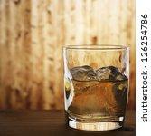 whiskey on the rocks at bar...   Shutterstock . vector #126254786