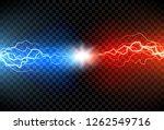 lightning electric thunder... | Shutterstock .eps vector #1262549716