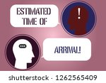 writing note showing estimated... | Shutterstock . vector #1262565409