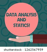 writing note showing data... | Shutterstock . vector #1262567959