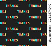 colorful textual seamless... | Shutterstock .eps vector #1262574040