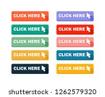 click here button set   vector. ... | Shutterstock .eps vector #1262579320