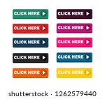 click here button set   vector. ... | Shutterstock .eps vector #1262579440