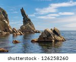 Rock Sticking Vertically Out O...