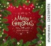 creative frame made of... | Shutterstock .eps vector #1262584576
