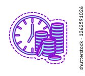 time is money. clock and coin...   Shutterstock .eps vector #1262591026