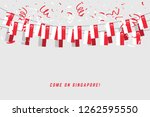 singapore garland flag with... | Shutterstock .eps vector #1262595550