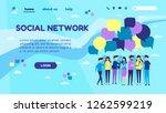 flat vector illustration ... | Shutterstock .eps vector #1262599219