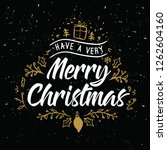 merry christmas. typography.... | Shutterstock .eps vector #1262604160