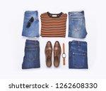 blue jeans  watch  leather...   Shutterstock . vector #1262608330