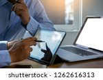 mock up using laptop with blank ...   Shutterstock . vector #1262616313