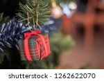christmas giftbox decorate on... | Shutterstock . vector #1262622070