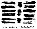 vector set of hand drawn brush... | Shutterstock .eps vector #1262624836