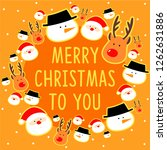 christmas greeting card... | Shutterstock . vector #1262631886