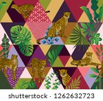 tropical seamless pattern with... | Shutterstock .eps vector #1262632723