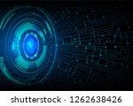 binary circuit board future... | Shutterstock .eps vector #1262638426