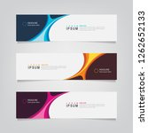 vector abstract web banner... | Shutterstock .eps vector #1262652133