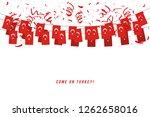 turkey garland flag with... | Shutterstock .eps vector #1262658016