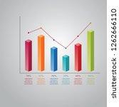 bar chart graph diagram... | Shutterstock .eps vector #1262666110