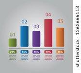 bar chart graph diagram... | Shutterstock .eps vector #1262666113