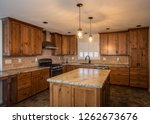modern kitchen remodel with... | Shutterstock . vector #1262673676