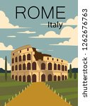 Rome Vintage Retro Poster....