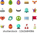 color flat icon set   easter... | Shutterstock .eps vector #1262684086