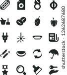 solid black vector icon set  ...   Shutterstock .eps vector #1262687680