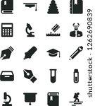 solid black vector icon set  ... | Shutterstock .eps vector #1262690839
