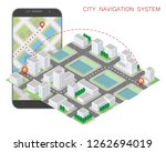city map route navigation... | Shutterstock .eps vector #1262694019