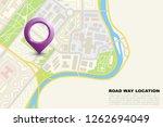 city map navigation banner ... | Shutterstock .eps vector #1262694049