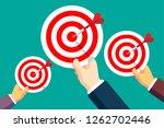 hitting the target | Shutterstock .eps vector #1262702446