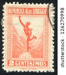 uruguay   circa 1922  stamp...   Shutterstock . vector #126270998