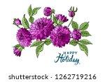 Isolated Buquet Of Purple...
