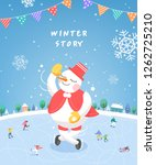 winter story illustration | Shutterstock .eps vector #1262725210
