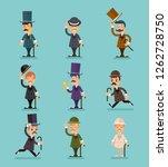 gentleman victorian characters... | Shutterstock . vector #1262728750
