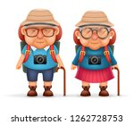 old backpacker couple photo... | Shutterstock . vector #1262728753