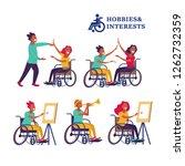 women and men wheelchair users...   Shutterstock .eps vector #1262732359