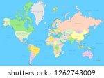 political world map   vector... | Shutterstock .eps vector #1262743009