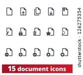 documents icons  vector set of... | Shutterstock .eps vector #126275354
