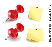 vector pushpin icon and note... | Shutterstock .eps vector #126275693