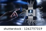 gps   global positioning system ...   Shutterstock . vector #1262757319
