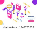 isometric hire and recruit... | Shutterstock .eps vector #1262759893