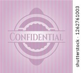 confidential realistic pink... | Shutterstock .eps vector #1262761003