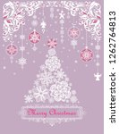 beautiful christmas craft... | Shutterstock . vector #1262764813